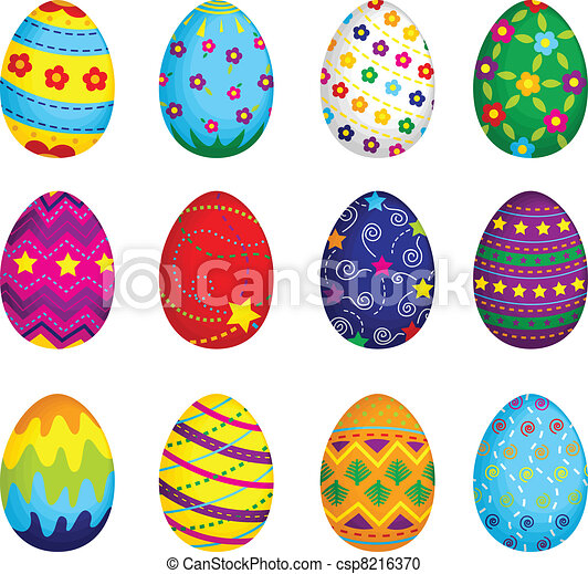 Easter eggs - csp8216370