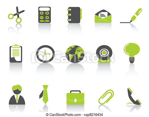 office icon green series - csp8216434