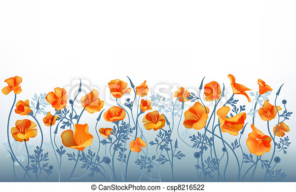 Orange flowers - csp8216522