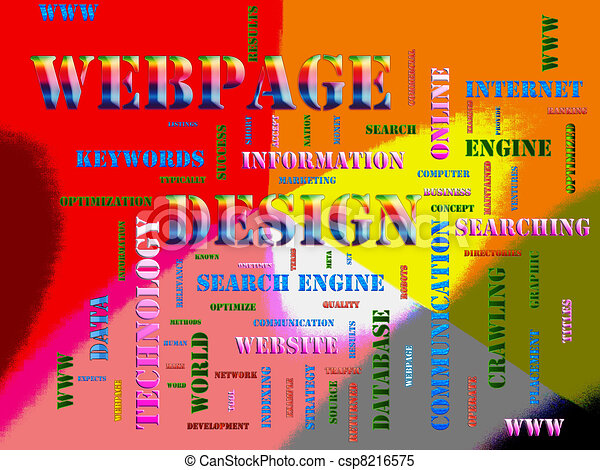 webpage design Related Text - csp8216575