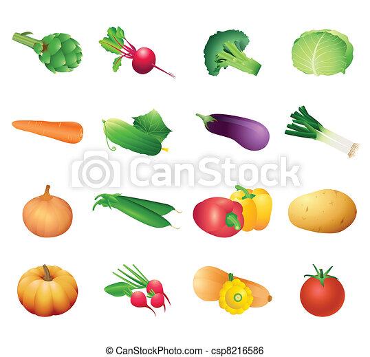 Calorie table vegetables - csp8216586