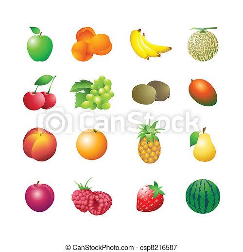 Calorie table fruits - csp8216587