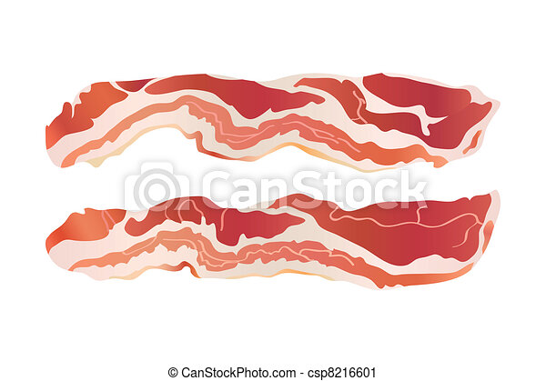 Cooked bacon strips - csp8216601