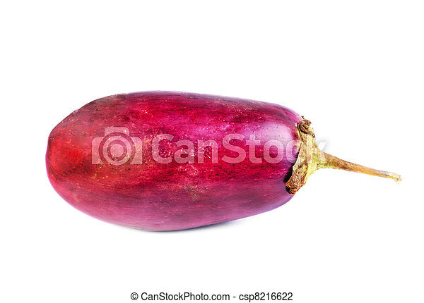 eggplant isolation on white  - csp8216622