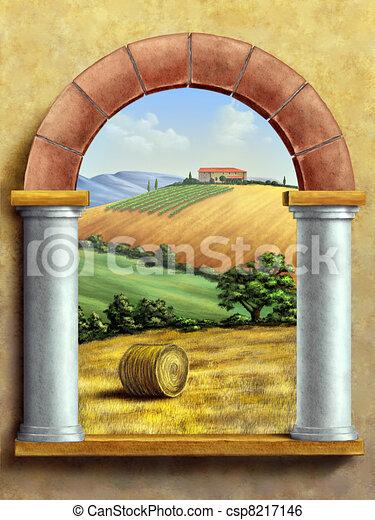Rural Landscape - csp8217146