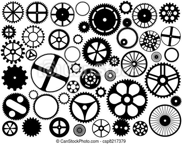 Gear wheel silhouettes - csp8217379