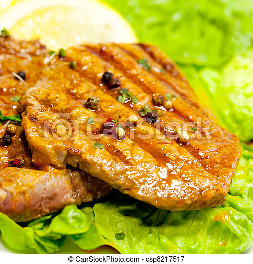 Grilled steak meat - csp8217517