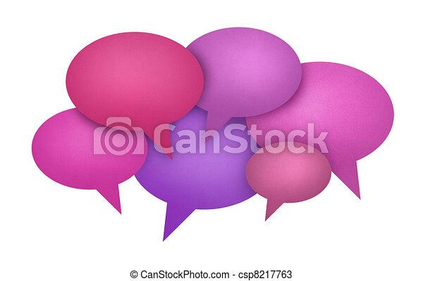 Speech Bubble Communication Concept - csp8217763