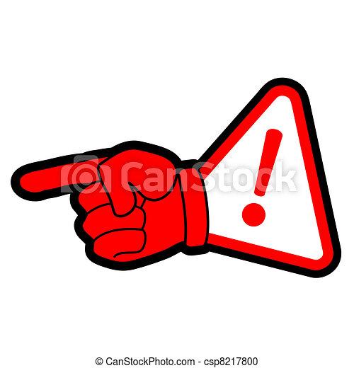 シンボル, 危険, 手 - csp8217800