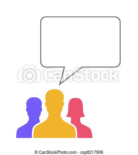 Speech Bubble Communication Concept - csp8217906