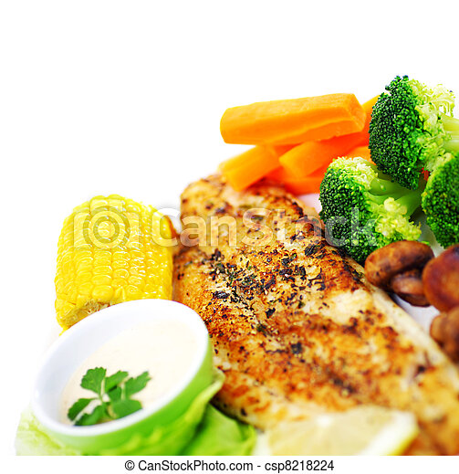 Tasty fish fillet - csp8218224