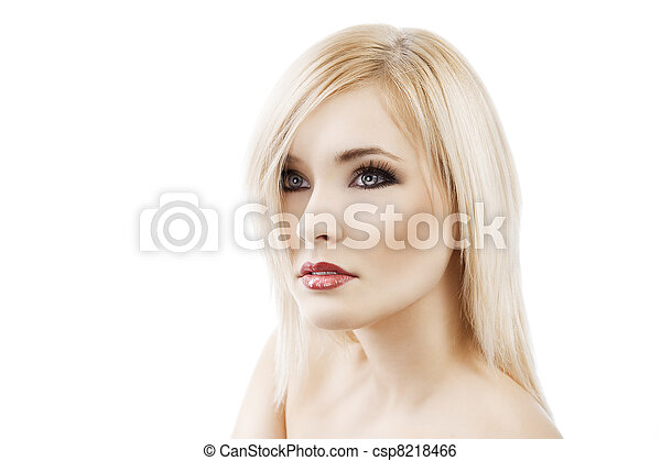 alluring blond with hair style - csp8218466