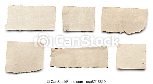 white news paper ripped message background - csp8218819