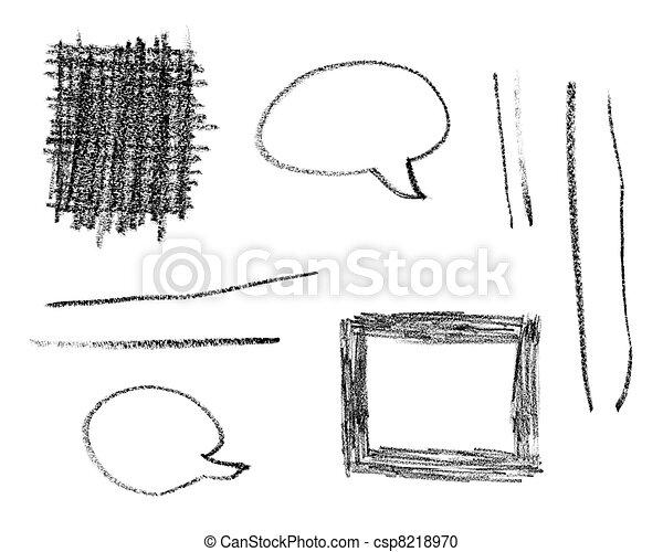 pencil stroke trace art craft - csp8218970