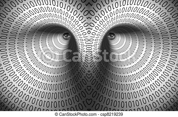 Eyes in binary tunnel - csp8219239