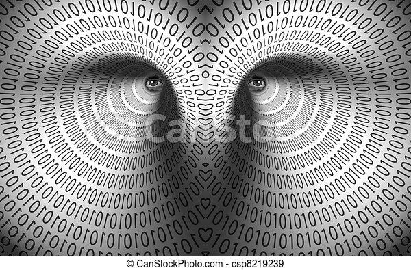 Eyes in binary tunnel - csp8219239