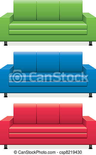 vector colorful sofas - csp8219430