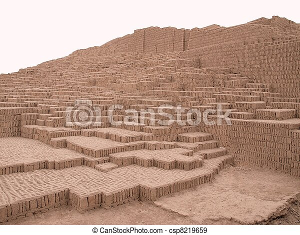 Ancient pyramid in Lima, Peru - csp8219659