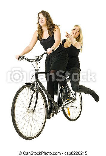 Girls on bicycle - csp8220215