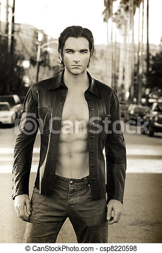 Sexy male fashion model - csp8220598