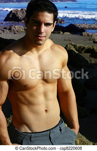 Young male fitness model - csp8220608