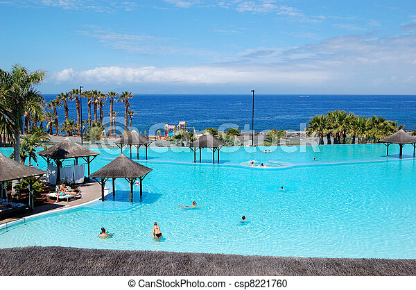 Photographies de h tel le piscine tenerife jacuzzi - Piscine martianez tenerife ...