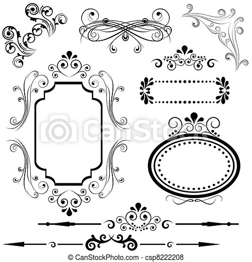 Border and frame designs - csp8222208