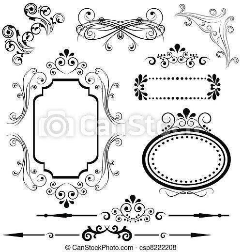 Border and frame designs - csp8222208