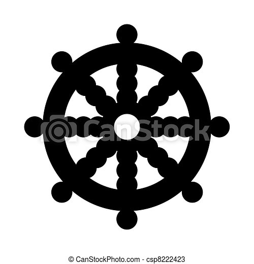 Buddhist Wheel of Dharma - csp8222423