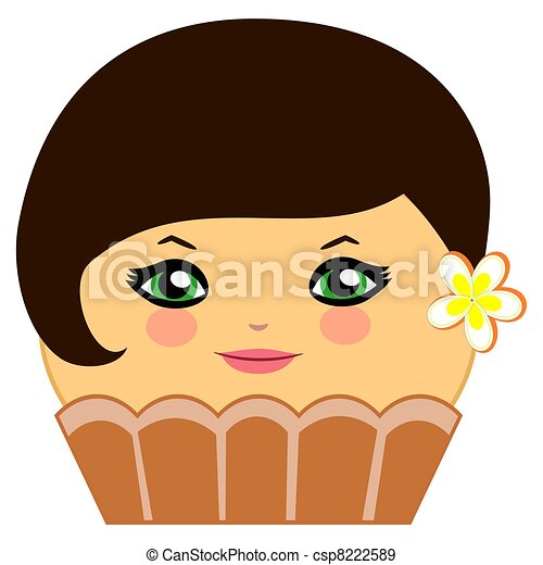Cupcake Clipart With Faces Cartoon Cupcakes With Faces
