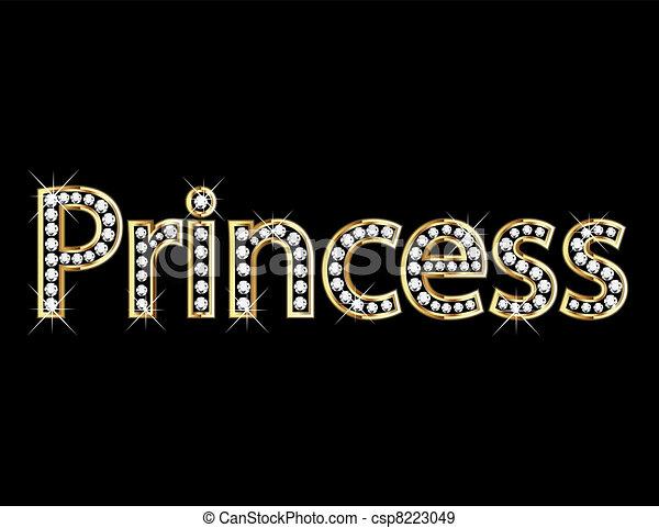 Princess letter gold - csp8223049