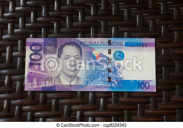 philippine banknote - csp8224343