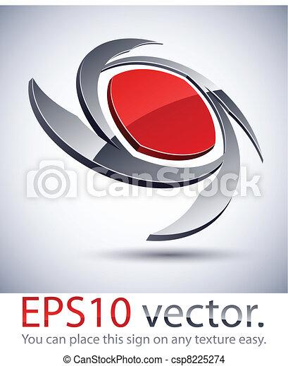 3D modern blade logo icon. - csp8225274