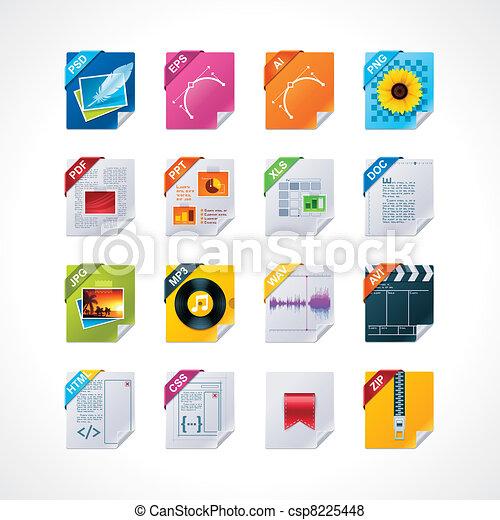 File labels icon set - csp8225448