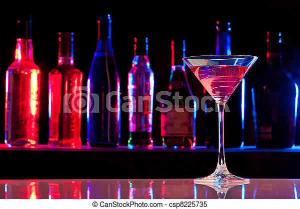 Cocktail glass with drink in the bar - csp8225735