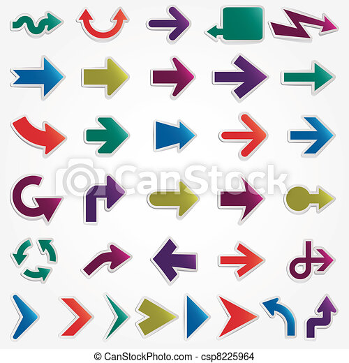 vector arrows set - csp8225964
