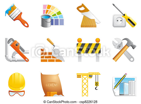 Architecture and construction icons - csp8226128