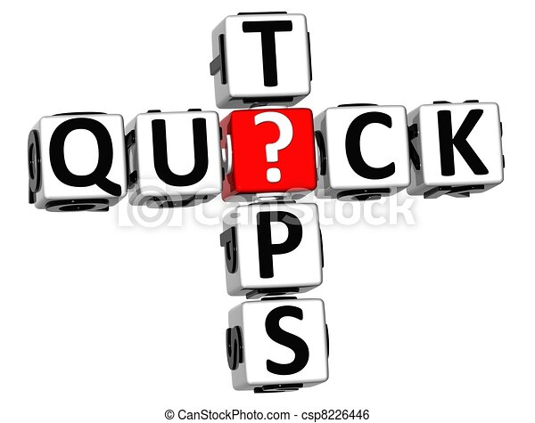 3D Quick Tips Crossword - csp8226446