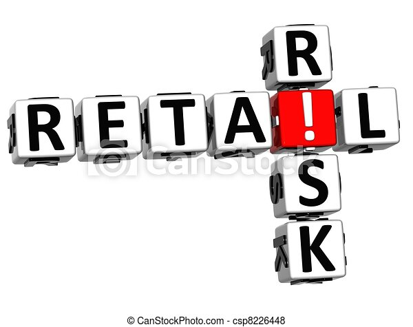 3D Retail Risk Crossword - csp8226448