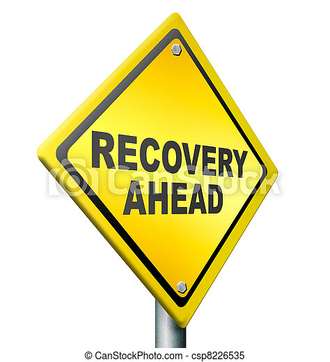 Stock Photo - recovery ahead - stock image, images, royalty free photo