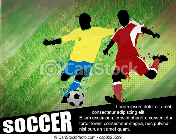 Soccer poster background - csp8226539