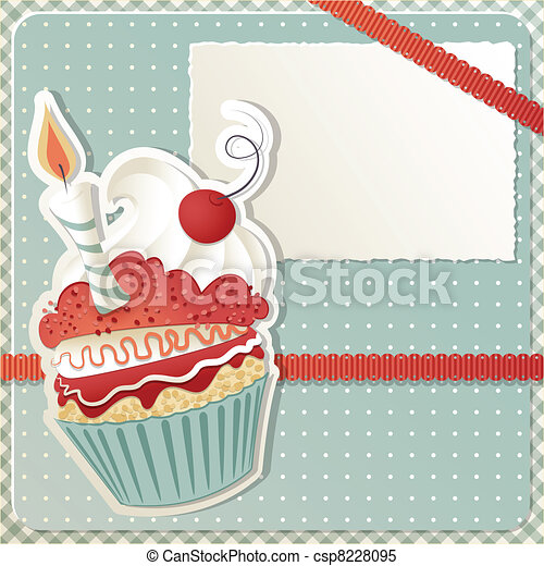 Birthday Cupcake - csp8228095