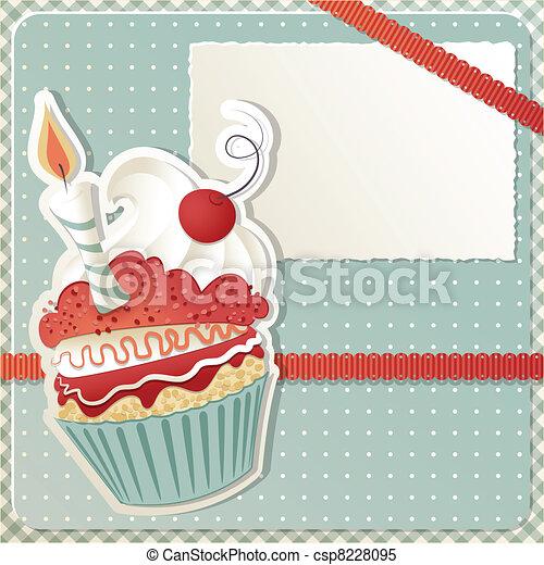Birthday Cupcake - csp8228095