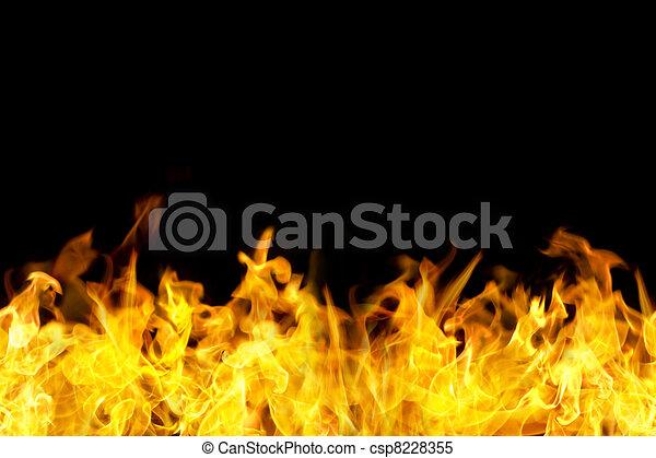 seamless fire flames border - csp8228355