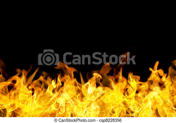 fire flames border in banner form - csp8228356