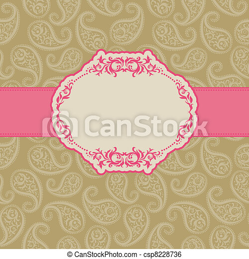 Template frame design for greeting card . - csp8228736