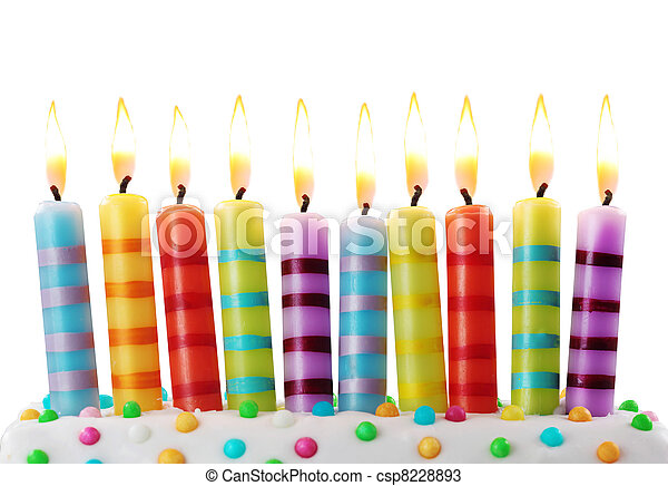 Ten birthday candles - csp8228893