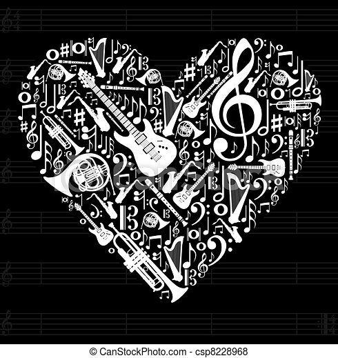 Love for music concept illustration - csp8228968