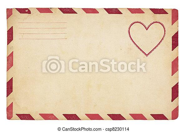 Vintage Valentine Envelope - csp8230114
