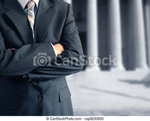 Man at courthouse - csp8230835